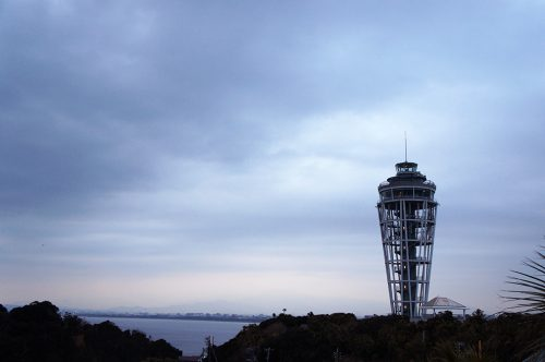 the observatory of the Enoshima Sea Candle
