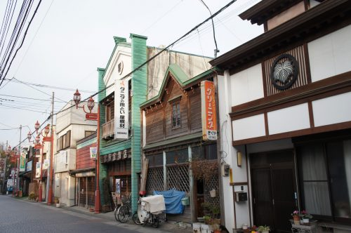 Walk into the city center on the Chichibu Silk Road in Chichibu, Saitama, Japan.