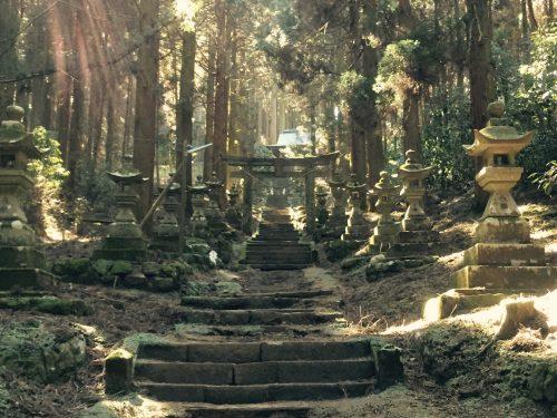 Kamishikimi Kumanoimasu Shrine in South Aso, Kumamoto, Kyushu, Japan.