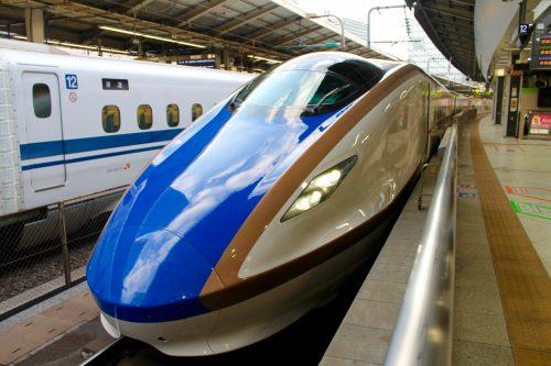 JR Hokuriku Shinkansen at Tokyo Station, Japan.