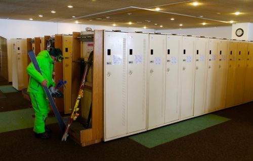 get your own storage locker in the rental area as a guest of the Manza Prince Hotel, Japan.