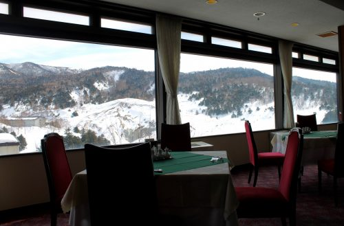 Staying at the Manza Prince Hotel and enjoy skiing.