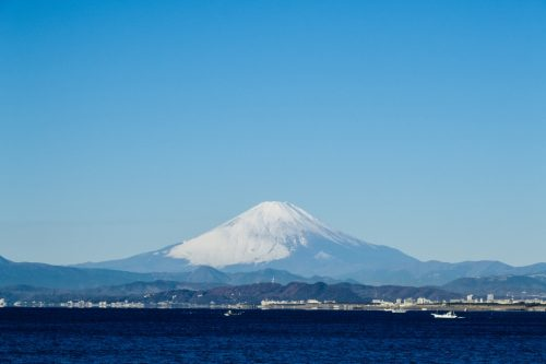 Mount fuji from Enoshima Bentenbashi Bridge