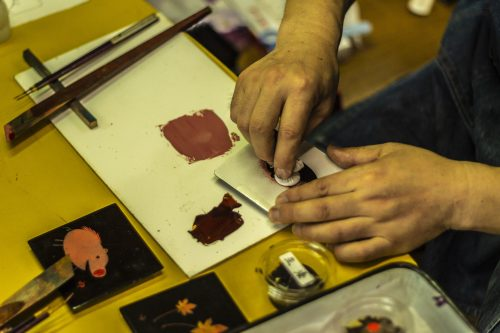 Murakami Lacquerware Workshop Store Traditional Local Crafts Urushi Ohtaki Niigata Prefecture
