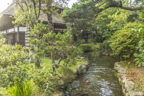 Goushikan Inn Ryokan Traditional Accommodation Local Cuisine Niigata Prefecture Murakami Garden
