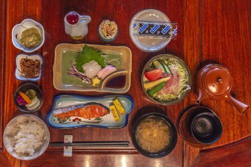 Goushikan Inn Ryokan Traditional Accommodation Local Cuisine Niigata Prefecture Murakami Salmon Breakfast