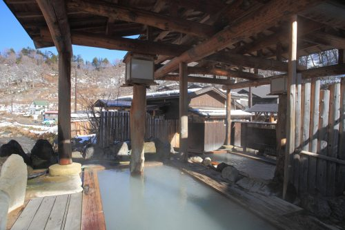 Hiking around hot springs at Yuzawa, Tohoku region