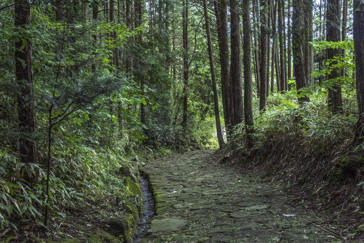 Hiking through the Nakasendo Trail from Nakatsugawa Post Town