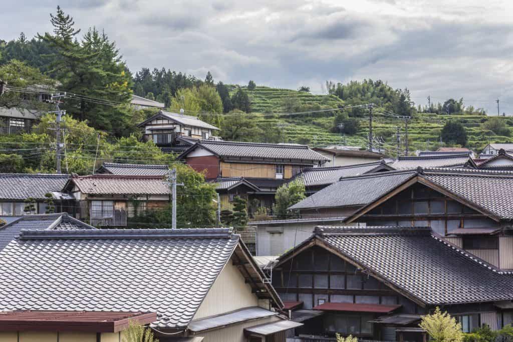 Traditional houses along the Nakasendō, Gifu Prefecture, Japan