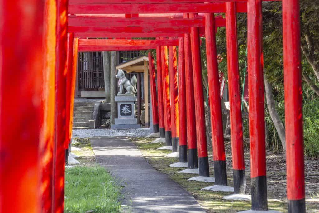 Starting point for trekking on Nakasendo, Gifu Prefecture, Japan