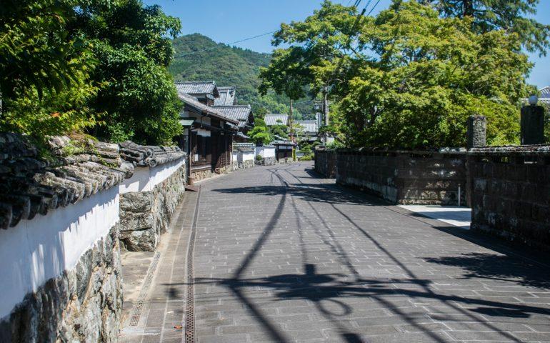 Saiki samurai town, Oita prefecture, Japan.