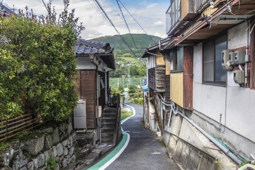 Village crossed during the Nakasendō hike, Gifu prefecture, Japan