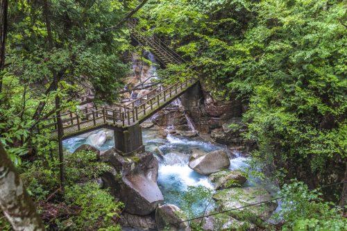 In Yumori Park in Nakatsugawa, Gifu Prefecture, Japan