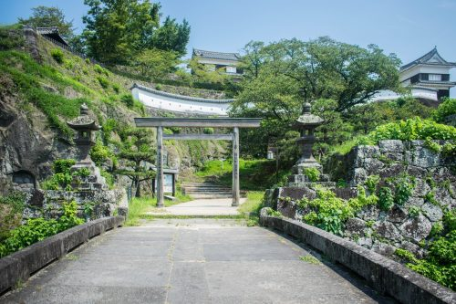 Castle Park in Usuki, Oita Prefecture, Japan