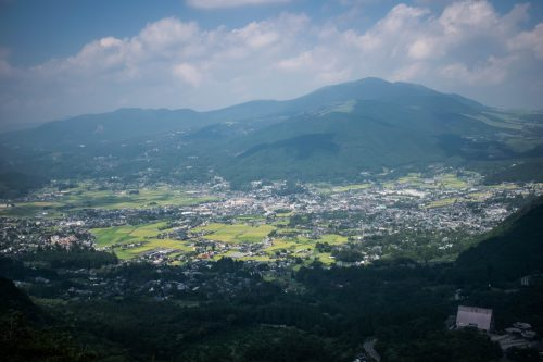 View from Yufudake Mountain near Yufuin, Oita Prefecture, Japan
