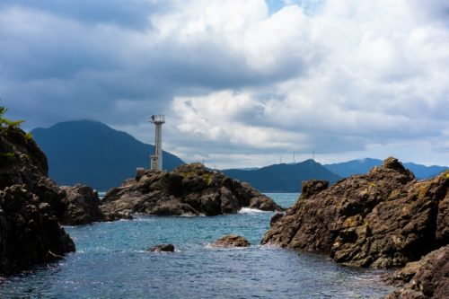 Rocky islands off the coast of Takahama town, Fukui Prefecture, Japan.