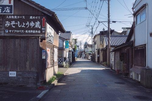 Kajiyamachi dori in Hitoyoshi, Kumamoto Prefecture, Kyushu, Japan