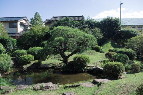 Japanese Garden of an Old Samurai House in Hitoyoshi, Kumamoto Prefecture, Kyushu, Japan