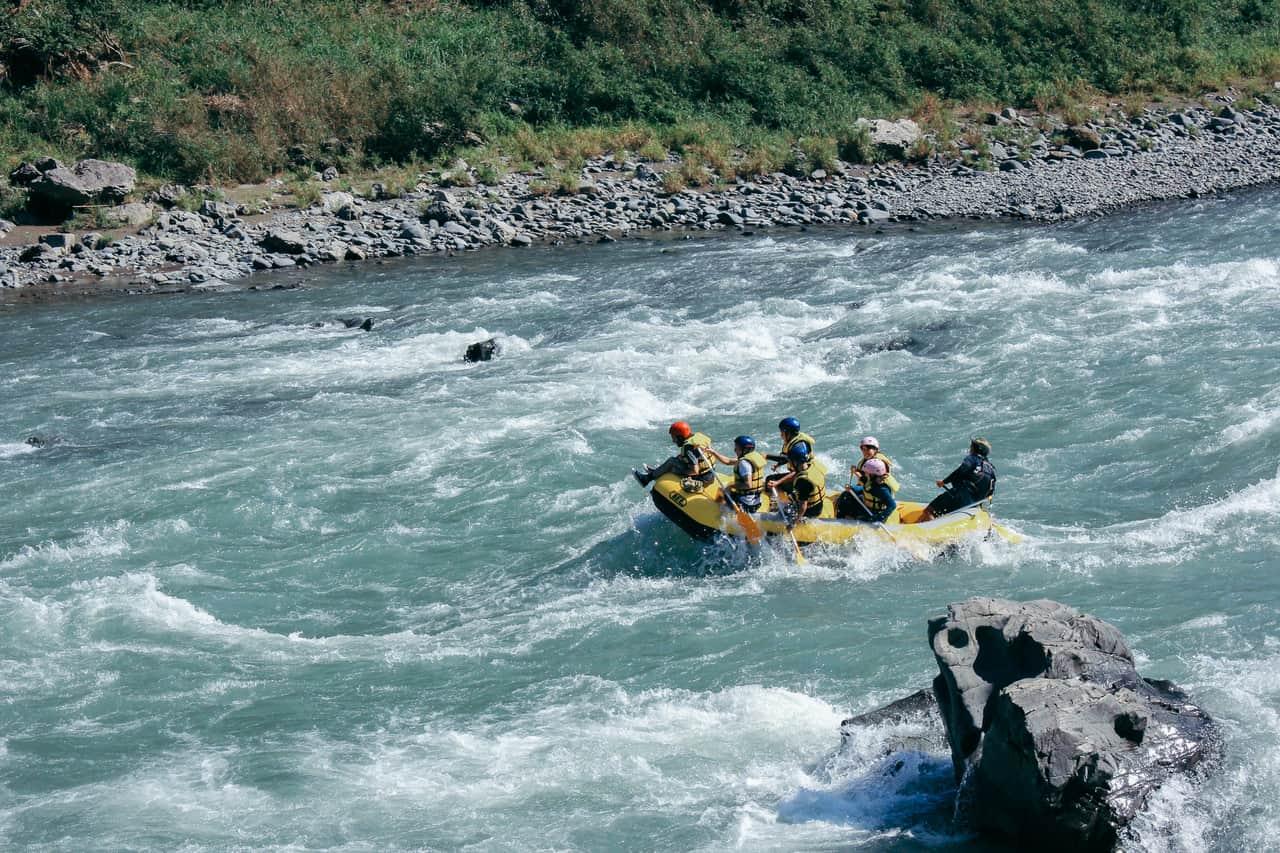 Rafting on the Kuma River in Hitoyoshi