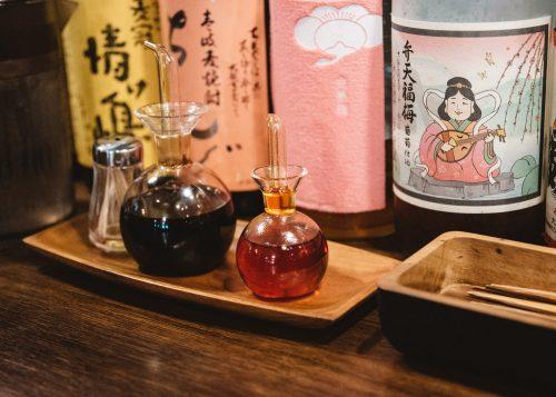 Fukushima local specialities, in Fukushima city, Tohoku region in Japan.