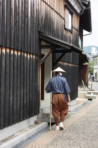 Strolling in the harbor and visiting Dejima in Nagasaki, Kyushu, Japan.