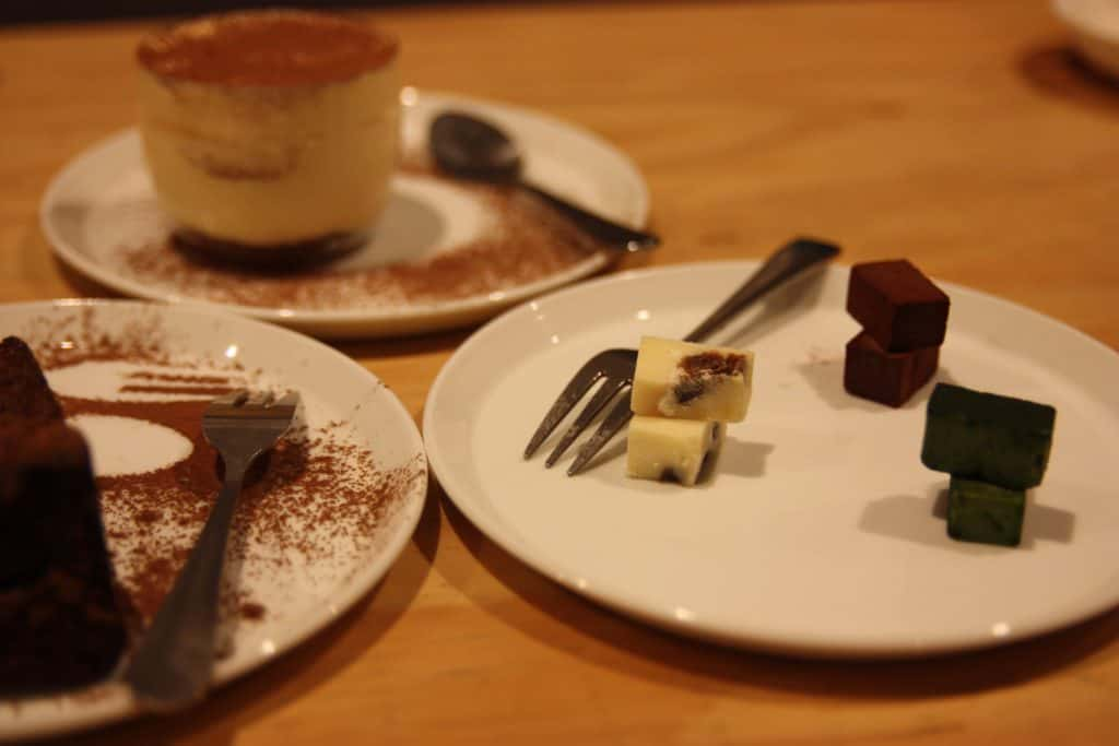 Japanese dessert and coffee