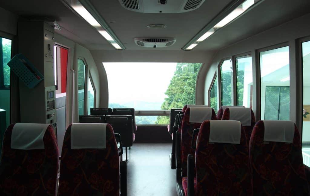 interior of Japanese train