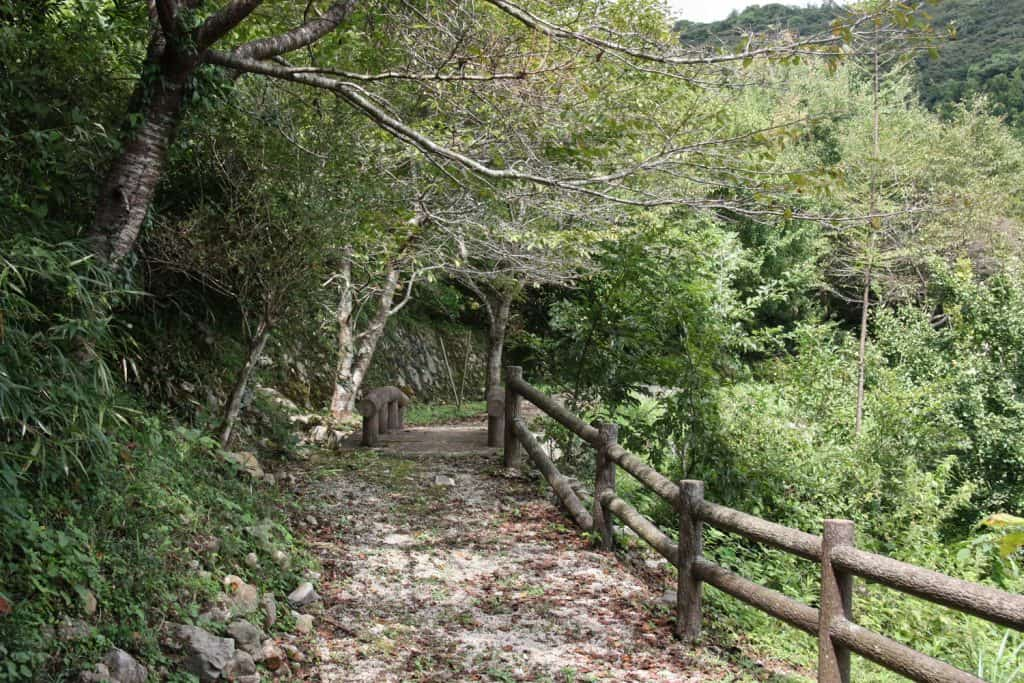 Japanese hiking trail in Japan