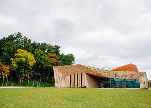 A modern architectural masterpiece by Kengo Kuma in Iiyama City, Nagano.