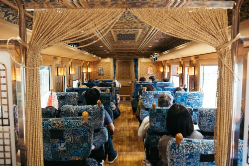 Retro Decoration Inside Kawasemi Yamasemi Train, Kumamoto Prefecture, Kyushu, Japan