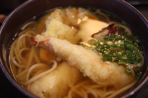 Trying local specialties: Goto udon in Goto island, Nagasaki, Japan.