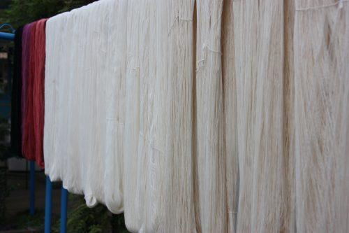 Dyed cotton thread in Kagawa Prefecture in Shikoku.