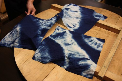 Dye your own indigo cloth as a unique souvenir from Mima in Tokushima Prefecture, Japan.