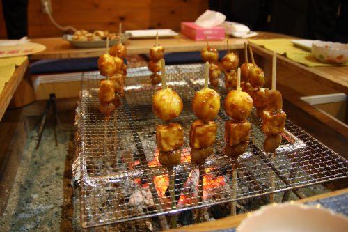 Preparing dinner at Yuzu no Sato minshuku in Mima, Tokushima.