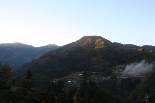 First light of morning at Ochiai hamlet in Tokushima.
