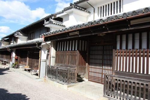 Preserved Edo era buildings of Udatsu, Mima in Shikoku.