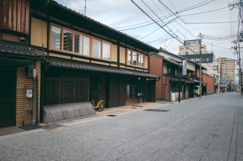 Traditional houses of Otsu city, Shiga prefecture, near Kyoto, Japan