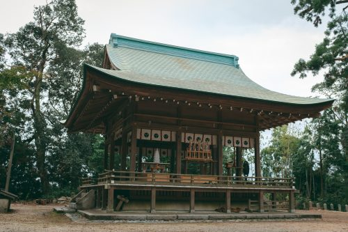 Shrine in Ogi, Shiga Prefecture, near Kyoto, Japan