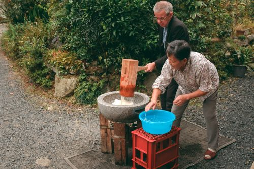 Preparing mochi with Ogi locals in Shiga Prefecture, near Kyoto, Japan