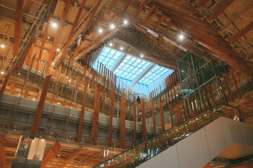 Toyama Glass Art Museum wood interior.