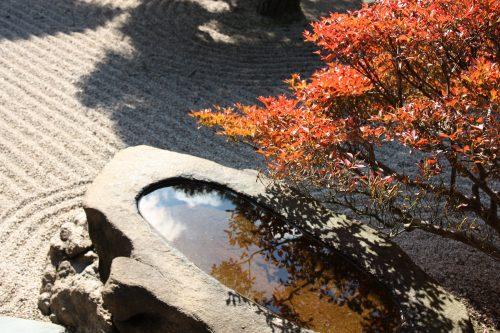 Rock and gravel display at Ritsurin Garden in Takamatsu, Kagawa Prefecture in Eastern Shikoku.