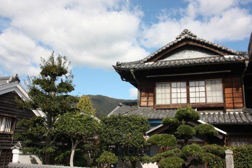 Merchant homes of Udatsu in Mima town, Tokushima.