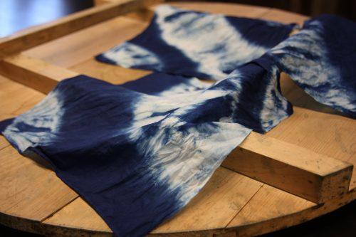 indigo dyed cloth in Mima town, Tokushima.