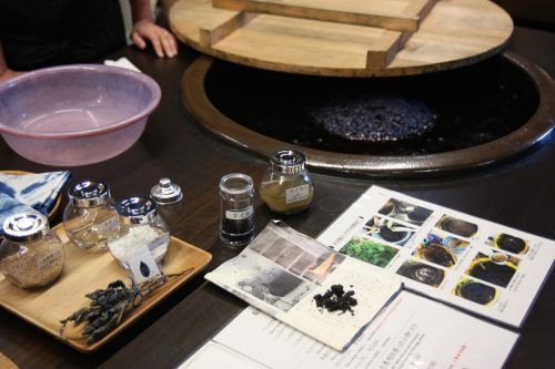 An indigo dyeing workshop conducted in Mima town, Tokushima.