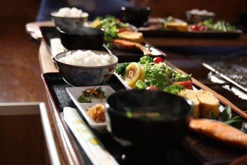 A lovely homemade breakfast at Yuzu No Sato minshuku in Mima town, Tokushima, Shikoku.