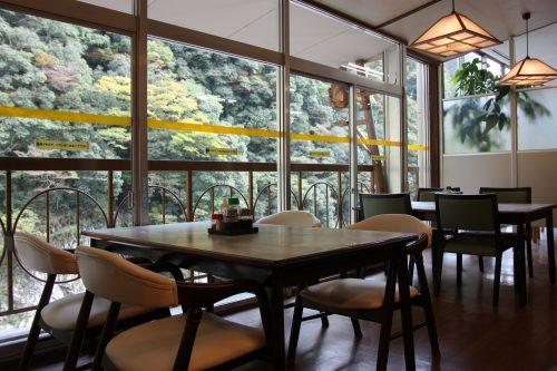 Spectacular views from Obokekyo Mannaka Restaurant in Tokushima.