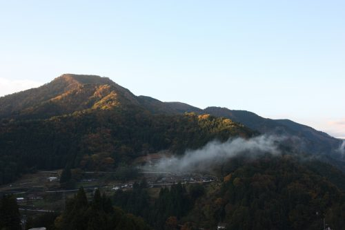 Sunrise over the mountains of Tokushima Prefecture in Eastern Shikoku.