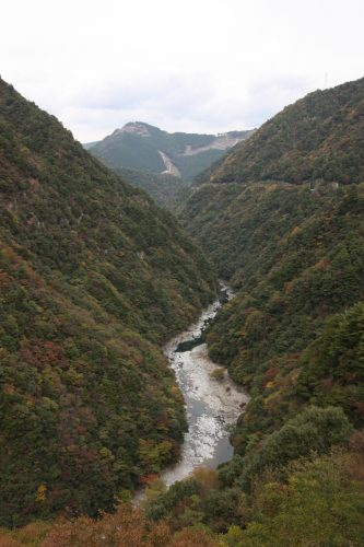 Looking down into the Iya Valley, Tokushima Prefecture on Shikoku.
