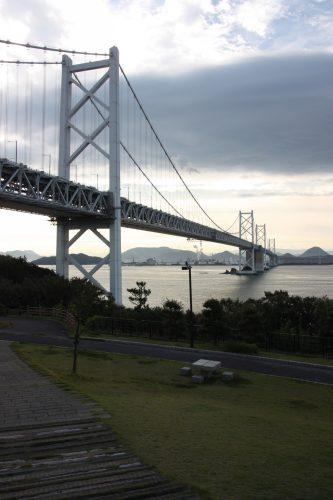 Ohashi Bridge crosses the Seto Inland Sea between Kagawa and Okayama prefectures.