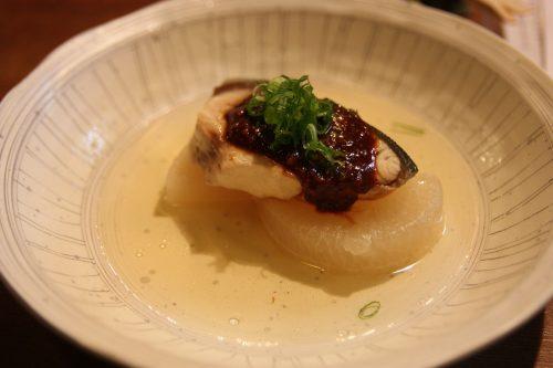 One of the delicous dishes at Mingeichaya, an izakaya restaurant in Kurashiki, Okayama.